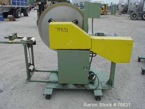 """Used- Tetra Profile Winder. Can handle approximately 6"""" wide x 32"""" diameter material, has edge guides, driven by a 1/3 HP, 3..."""