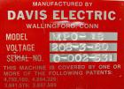 Used- Davis Electric 18