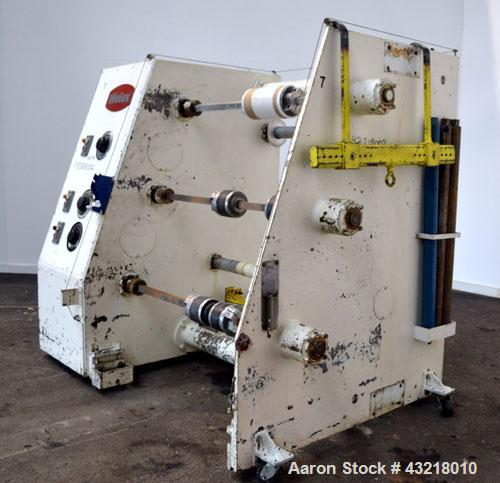 "Used- Welex 3 Fixed Position Winder. Approximate 31'' wide x 30'' diameter rolls, (3) fixed positions on 24"" centers. Each s..."