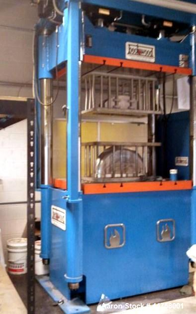 "Used-Beckwood Press, Model 4PTR350F230P3654, 350 Ton Capacity.  3"" x 36"" x 54"" Bolsters, 34"" stroke Parker cylinders. Ram sp..."