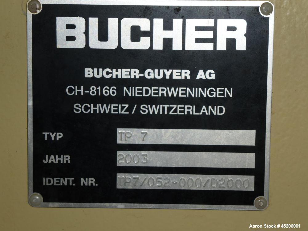 Used-Bucher Hydraulic Pack Press, Model TP7