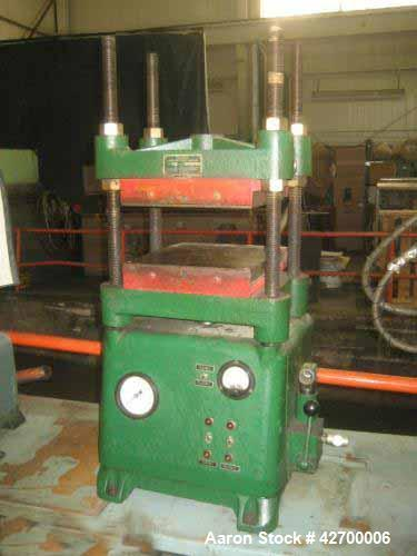 "Used- 30 Ton Carver Hot Platen Lab Press, Model 2629. Hydraulic, 4 post upstroke type, Table model. Distance between 1.25"" d..."