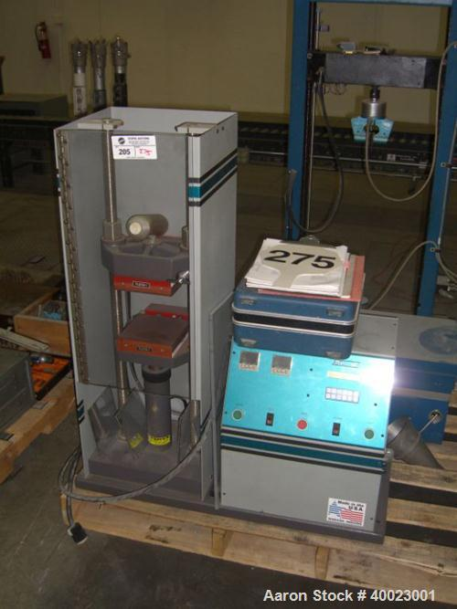 "Used- Carver Auto ""C"" Two Post Hydraulic Press. Model 38894D1000. 15 Ton capacity. 6"" x 6"" heated platen. 6"" stroke.0""-15"" d..."
