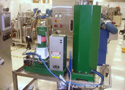 Used- Carver Press, Model C, 15 ton compression pressure, with hydraulic pump with 1/2 hp 90 volt motor, pump serial #2822-3...