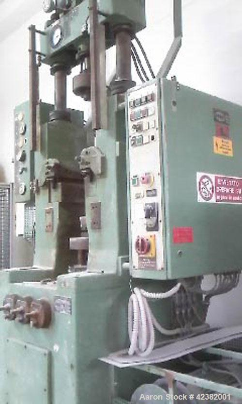 Used-Dorst Kochel Hydraulic Press, type TPA 15/10. Max pressure 15 tons, eject 10 tons. Adapter. 7.5 hp/5.5 kW, 380 volt/50 ...