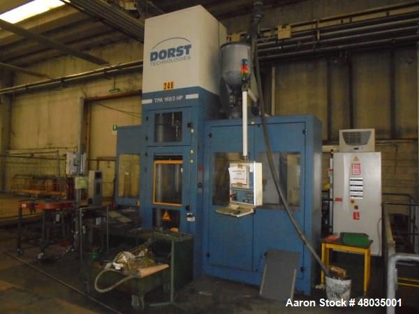 Used- Dorst Technologies Hydraulic Press, Model TPA160/3HP. 2- Adaptors HMA 160xx/3/3E. Yr. 2012.