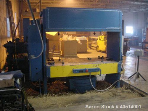 """Used-500 ton Erie mill, 85"""" left to right x 44"""" front to back up-acting slab side hydraulic press. Approximate 36"""" daylight,..."""