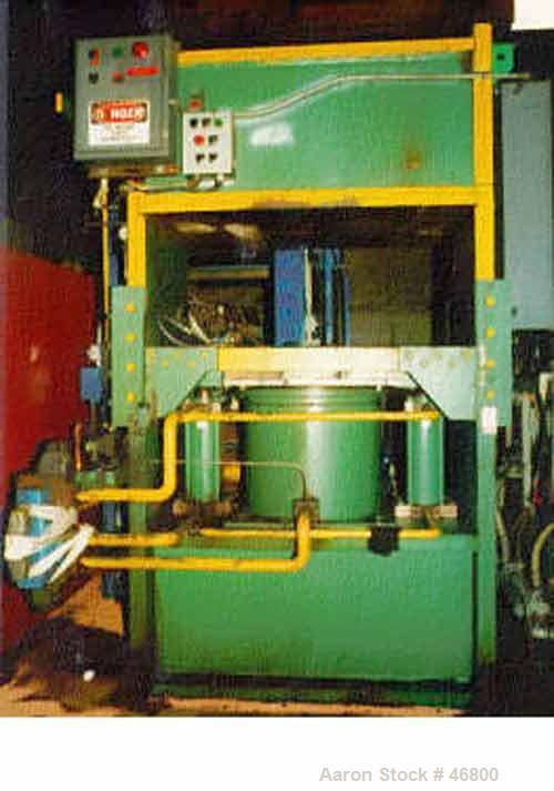USED: G.P. 400 ton upstroke self-contained hyd molding press, new in1981. Model 4-3656. Slab side design. Dist between slab ...
