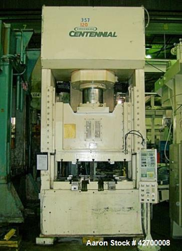 Used- 400 Ton Greenerd H Press, Model IICTG-400. Housing type - 8PT Gibbing - floor standing. Distance between side housings...