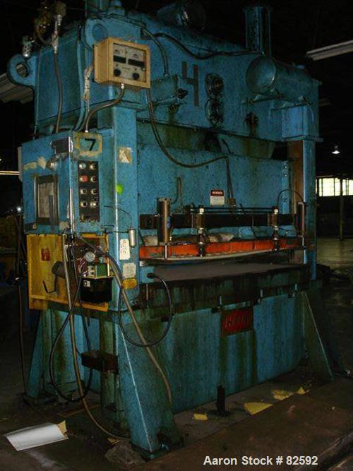 Used: Heim 150 ton straight side double crank press air clutch and brake, model S-150