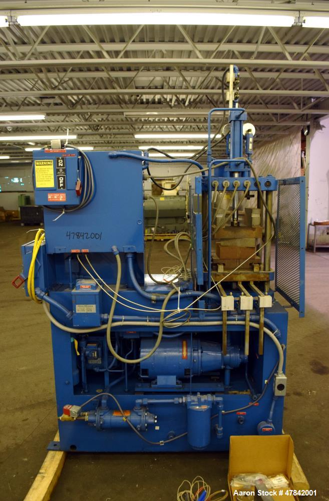 Used- Hull Company 12.5 Ton Hydraulic Transfer Molding And Or Encapsulating Press, Model 359E. Has 3 ton top transfer, 4 pos...