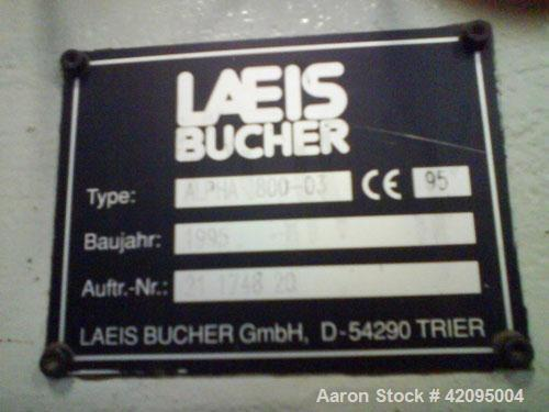 Used-Laeis Bucher Alpha 800 Press. 881.9 tons (800 metric tons) press force, 33 tons (30 metric tons) ejection force, fillin...