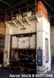 "Used- 500 Ton Sutherland Gib-Guided Hydraulic Press, Model ID-500. 39.3"" Max. Stroke, 51"" Max. Daylight to Bed; 98.4"" RL x 6..."