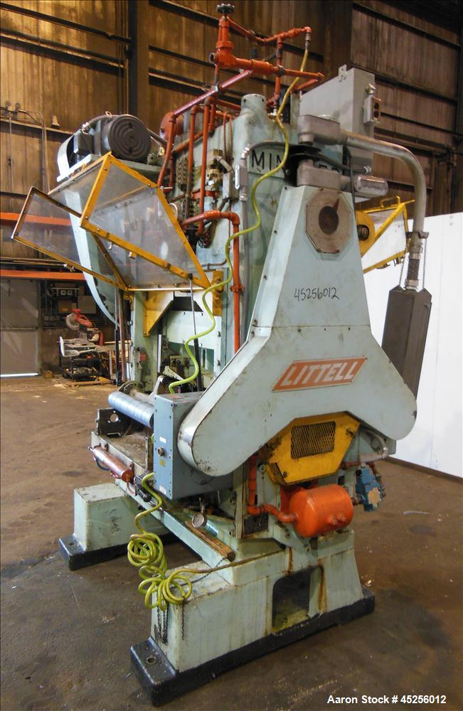 "Used  Minster 60 Ton Straight Side Press, Model # P2-60. 60 ton capacity, Press bed area 36"" X 25"", Stroke of slide 2"", Adju..."
