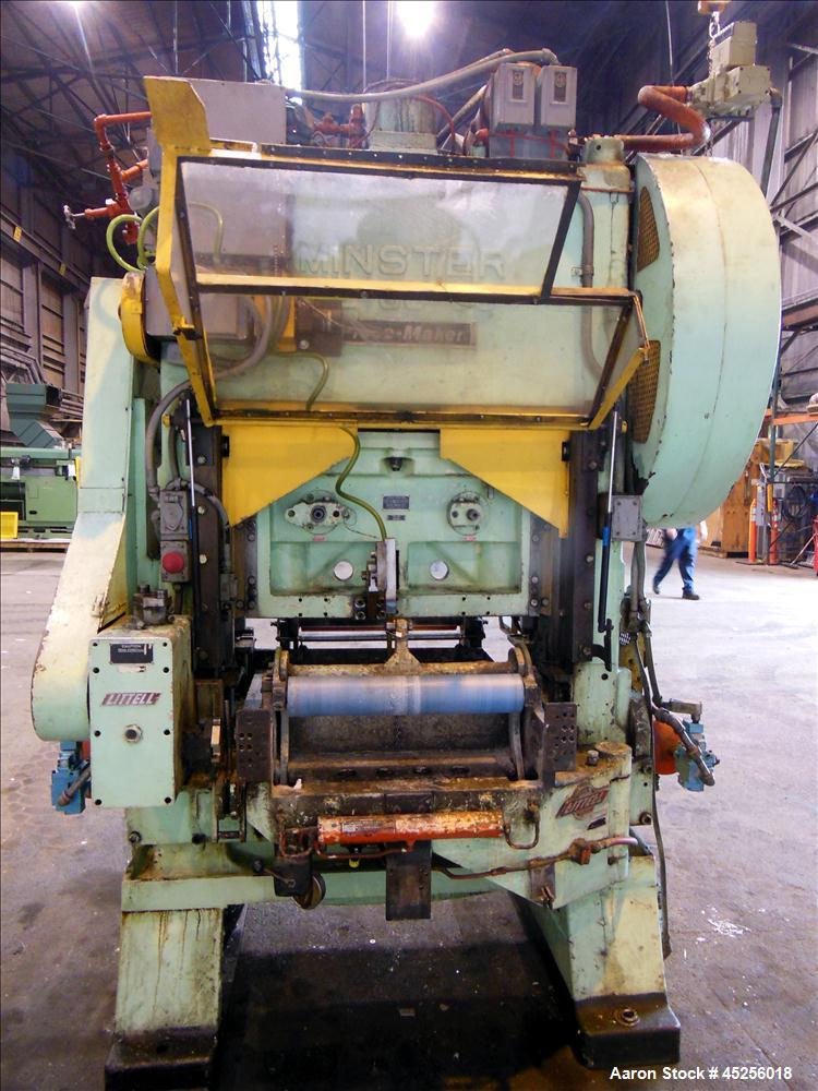 "Used  Minster 60 Ton Straight Side Press, Model # P2-60. 60 ton capacity, Press bed area 36"" X 25"", Stroke of slide - 2"", Ad..."