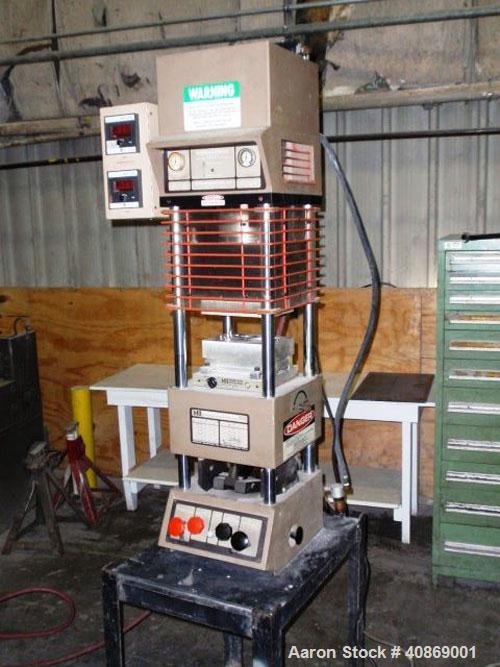 Used-Morgan Press With Temperature Controls. 20 ton lab press, model G-55TB, 120 vac, 1025 watts. Manufactured 1984.