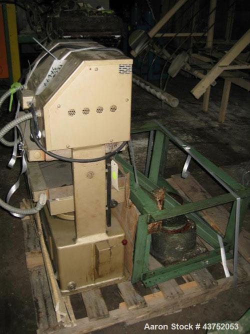 "Used- PHI Up-Acting Hydraulic Press, 30 Tons, Model O-24011. Platens 12-1/2"" x 10-1/2"". Electrically heated, 6 kw heaters, a..."