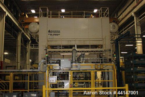 """Used-PTC Transfer Press, 800 Ton. Dual moving bolsters. 120"""" x 160"""" Working area.  Variable speed drive.  20 Strokes per min..."""