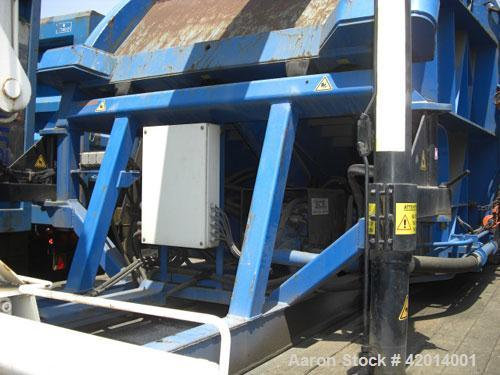 Used-SCS P265 Mobile Press, 292 tons (265,000 kg) compression force, 115 hp motor, cycle time 80 seconds per bale, max press...