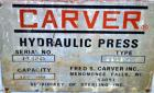 Used- Carver Air Powered Up Acting Hydraulic Press, Model 2202-AIR