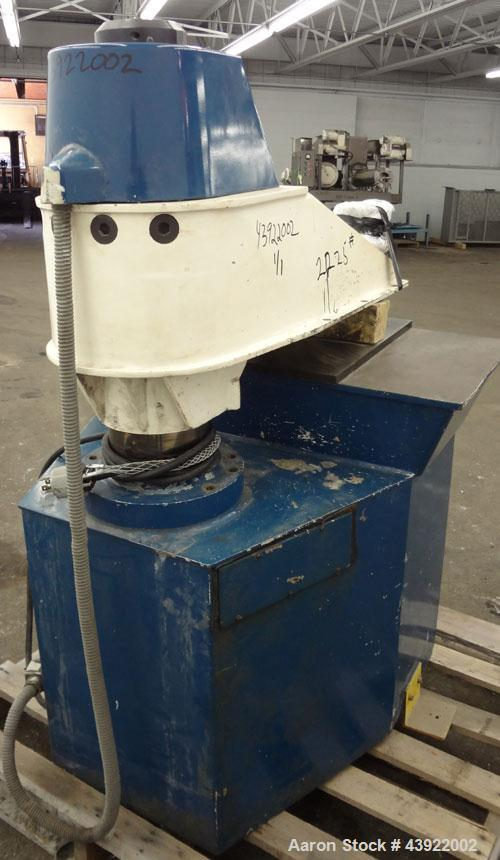 Used- United Shoe Machinery Swing Head Hydraulic Die Cutting Clicker Press, Approximately 25 Tons, Model DVSM-1. Bottom plat...