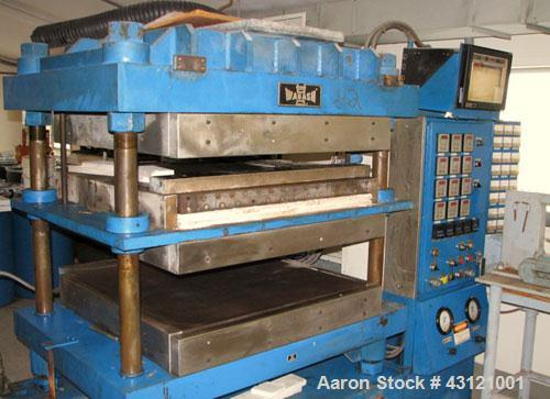 "Used- Wabash 50 Ton Molding and Laminating Press, Model 50-4040-4CTMX. 40"" x 40"" Electrically heated platens to 600 degrees ..."
