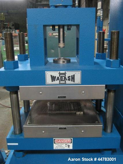 Used- Wabash 30 Ton Hydraulic Transfer Molding Press, Model GTR30H-15-X. With 12 ton top transfer. (4) Post upstroke type, F...