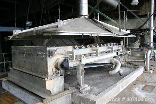 "Used-Andritz/Dupps Model 3624 Screw Press. 36"" x 24"" capacity, with Andritz 2.0m GBT 2 meter gravity belt thickener. Mfg 199..."