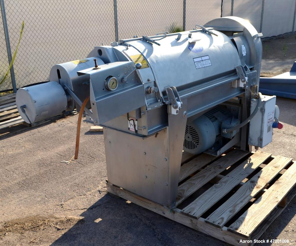 Used- Brown International Extractor Finisher De-Watering Separator, Model 2503