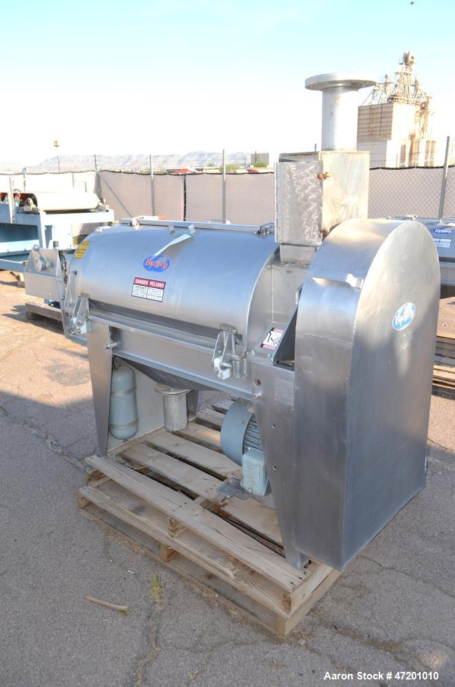 Used- Brown International Extractor Finisher De-Watering Separator, Model 2503, Stainless Steel. Input capacity up to 200 ga...