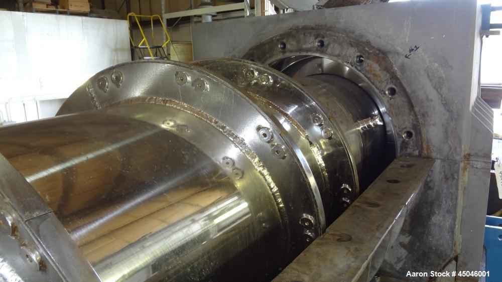 "Used- Andritz Dupps Wet Slurry Design Screw Press, Model 3016C, 304 Stainless Steel.  30"" Diameter x 169"" long cored screw, ..."