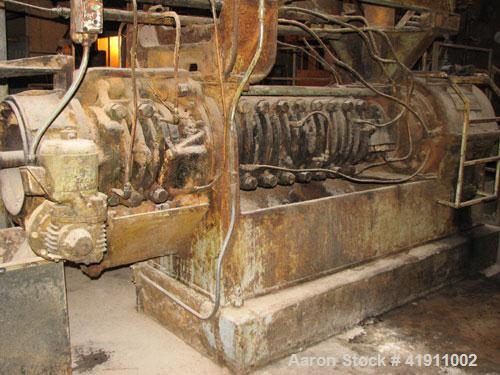 Used-French Oil Press, model 44. 100 hp motor, extension cage, spare parts. Reported to be reconditioned.
