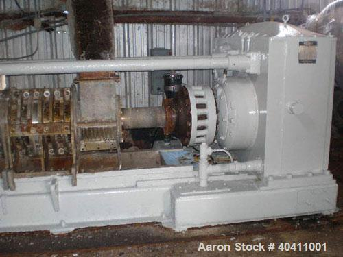 "Used-French Oil Mill Machinery 14"" Dewatering Press, model N-110-12-MPC. Includes N series gearbox; short frame; (2) H-2-14""..."