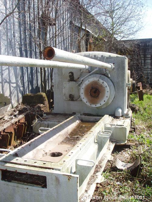 """Used-French Oil Mill Machinery 14"""" Dewatering Press, model N-110-12-MPC. Includes N series gearbox; short frame; (2) H-2-14""""..."""