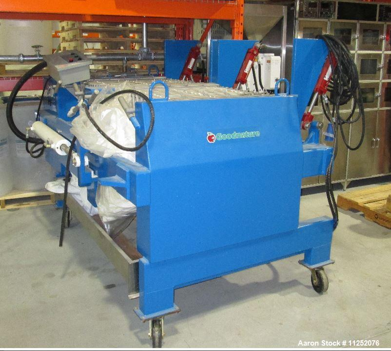 Used- Goodnature SX280 Juice and Cider Press. Press is rated for output of up to 450 gallons/hour (1700 liters/hour), 2-3 to...