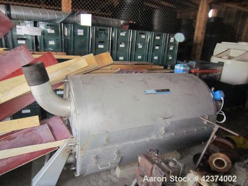 Used-Huber Rotamat RoS 2-3 Screw Dewatering Press for removal of wastewater solids. 1236 - 1942 cubic feet/hour (35 - 55 m3/...