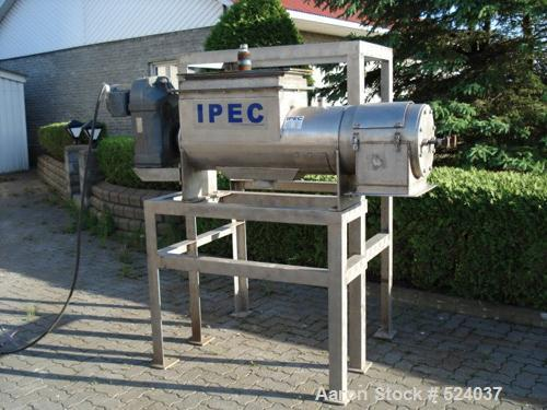 USED: IPEC dewatering shafted press, model 836. Stainless steel withstand. Comes with Altivar 18 adjustable drive, 220 volt,...