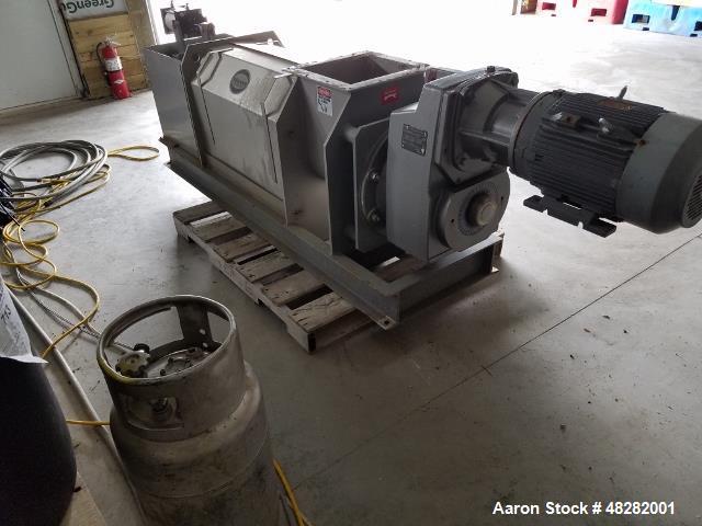 "Used- Vincent Horizontal Screw Press, Model KP-10. Approximate 10"" diameter x 41"" long screw. Approximate capacity GPM 10-10..."