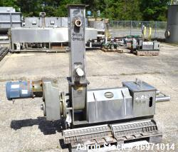 Used- Vincent Corporation CP Horizontal Screw Press, Model CP-6, Stainless Steel. Approximate capacity 300-1000 pounds per h...