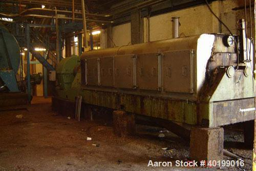 Used-Myran Double Screw Press, type BP 502. Material of construction is carbon steel on product contact parts. Driven via a ...