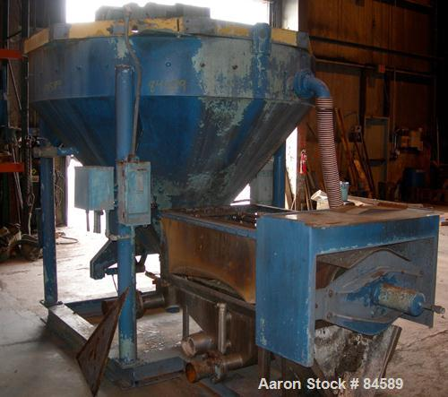 """USED- Pondorf Screw Press, 304 Stainless Steel. Approximate 12"""" diameter x 48"""" long screw. Driven by a 7.5 HP, 3/60/460 Volt..."""