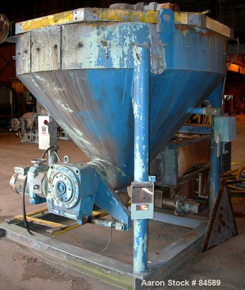 "USED- Pondorf Screw Press, 304 Stainless Steel. Approximate 12"" diameter x 48"" long screw. Driven by a 7.5 HP, 3/60/460 Volt..."