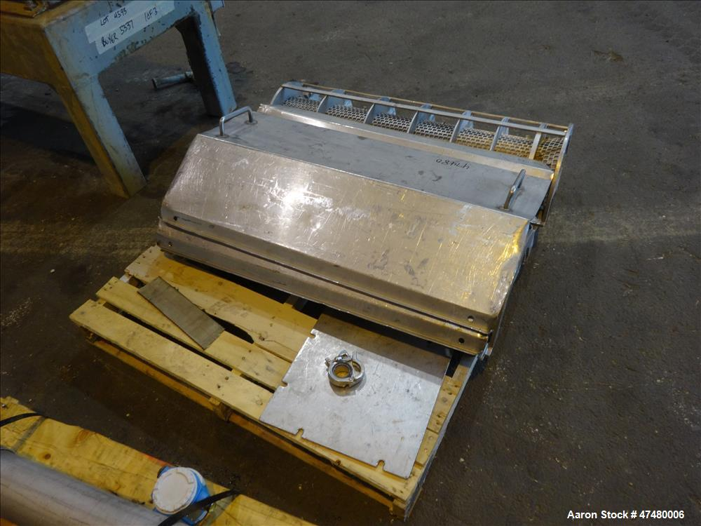 Used- Rietz Screw Press Model RSP-10-K2, 304 Stainless steel