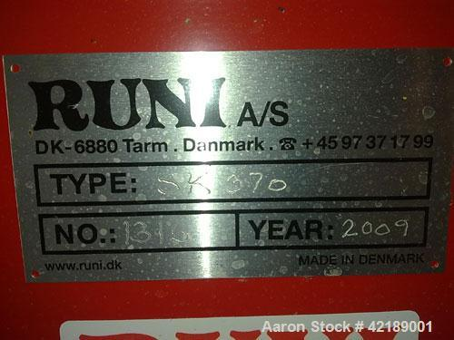 "Used-Runi A/S-Tarm Dewatering Screw, type SK370. Material of construction is carbon steel on product contact parts. 14.43"" (..."