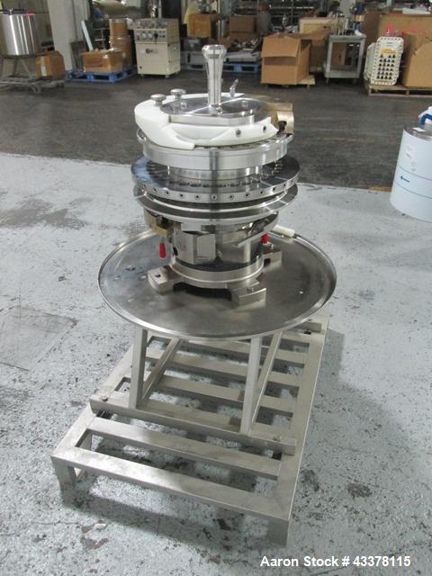 Used- Fette 36 Station Turret For A Model 2090I Rotary Tablet Press. 16 mm Maximum tablet diameter, 18 mm maximum depth of f...