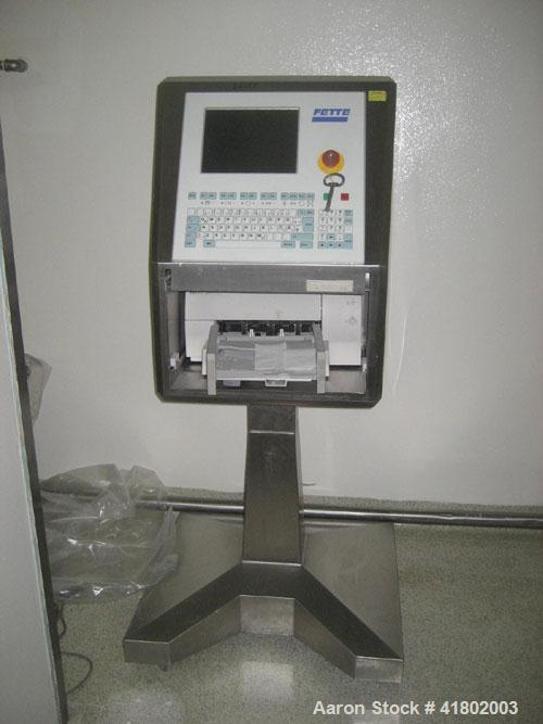 Used- Feete Compacting Rotary Tablet Press, Model P1090IC. 55 station,  tons operating pressure. 1-1/8''  maximum tablet dia...
