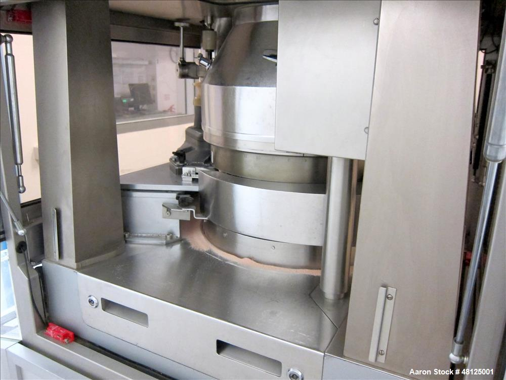 """Used- Fette Rotor Tablet Press, Type P2100. 43 Stations, B tooling, Overall dimensions: 3'9"""" (1200 mm) L x 4'4"""" (1350 mm) W ..."""
