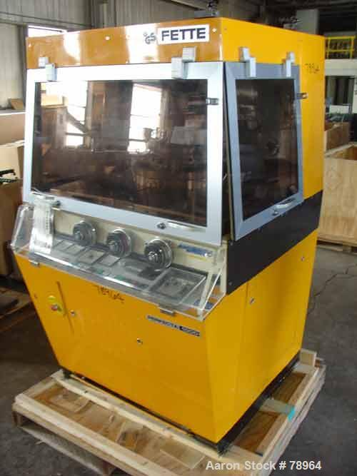 Used- Fette Single Sided Tablet Press, Model Perfecta 1000