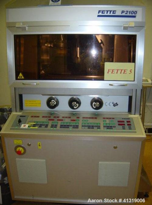 Used-Fette Rotary Tablet Press, Model 2100
