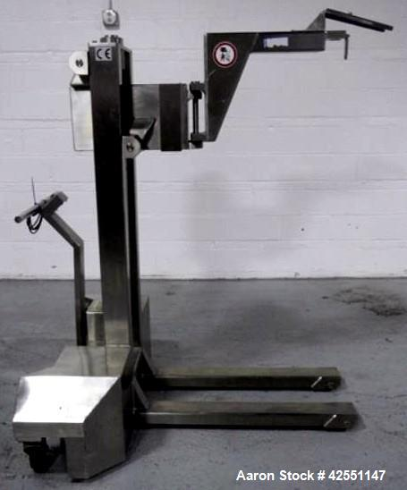 Used- Stainless Steel Fette turret removal cart